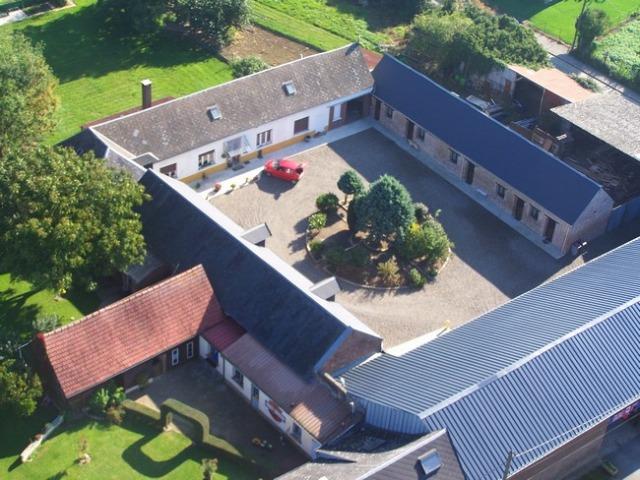 Vue aérienne b&b Villers-Bretonneux